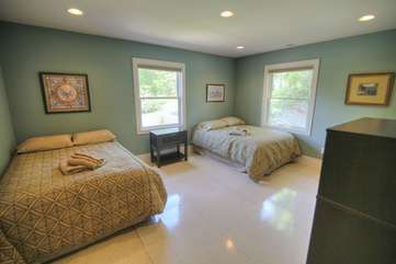Bedroom 4 with two full beds on second level