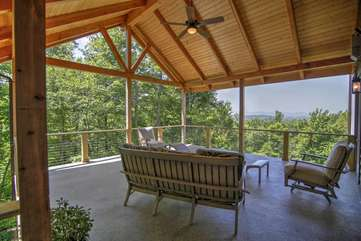 Timber Frame Covered Porch