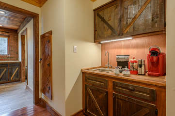 Coffee Bar between Kitchen and Dining Room