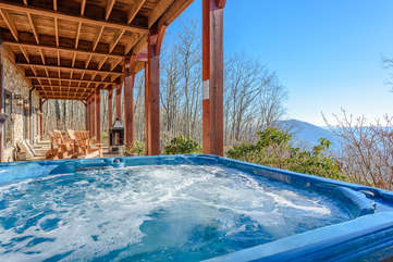 Phoenix Mountain Lodge Private Hot Tub looking out at the Views