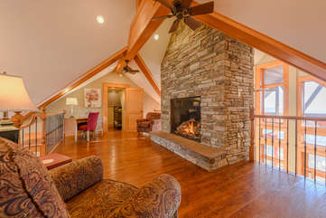 Phoenix Mountain Lodge Loft with Stone Fireplace, Desk, and Comfy Seating