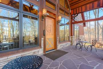 Large Front Porch with Cafe Style Seating