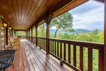 Beautiful Views and Lots of Seating on Covered Deck