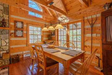 Dining Area with Access to Bach Porch