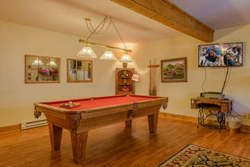 Pool Room with Large TV