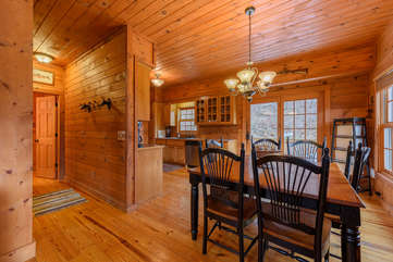 3 Bears Den Dining Room Open to Kitchen