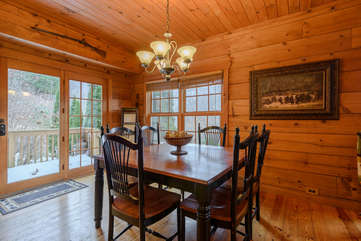 3 Bears Den Dining Room with Lots of Natural Light