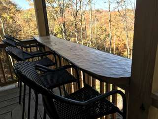 Custom Live Edge Outdoor Dining Counter