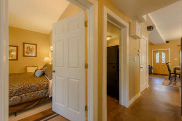 Hallway leading from Main Living Area to Bedrooms and Bathrooms on Main Level