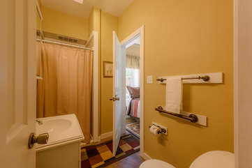 Second Bathroom on Main Level, Accessed from Hallway and 2nd King Bedroom