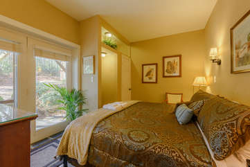 1 of 2 King Bedrooms on Main Level with access to Patio