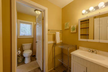 2nd Upstairs Bathroom with Vanity in Separate room from Toilet and Shower/Tub