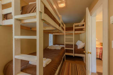 3rd Upstairs Bunk Room accessed through Gathering Room, Sleeps 4-6