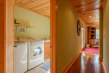Main Level Laundry room, Hallway accessing bedrooms