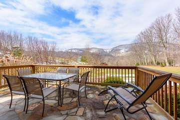 Patio with outdoor dining and beautiful view