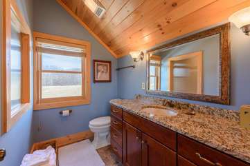 Private bathroom for King bedroom with large walk-in shower