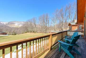 Private Deck for Upstairs King bedroom