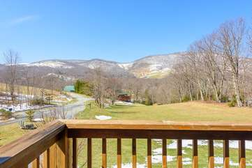 Beautiful views of surrounding mountains from private deck