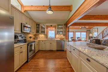 Mount Bethel Kitchen with new stainless steel appliances, granite counter tops