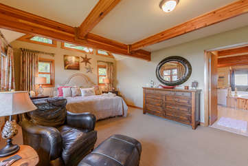 Master Bedroom on main floor with large private bathroom, walk-in closet