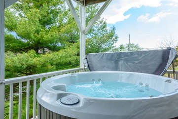 Hot Tub on main level porch