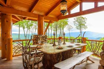 Outdoor Dining with Beautiful Views at the Rock