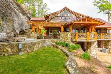 The Rock, with ample space for outdoor living on spacious patios and porches