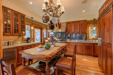 The Rock Gourmet Kitchen With Viking Stainless, Large Granite Island