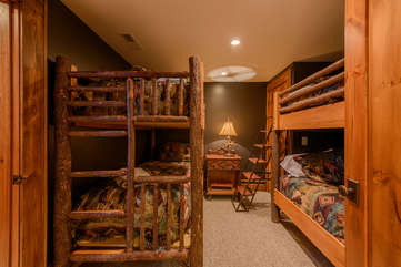 Downstairs Bunk Room Located Off of the Billiard Room