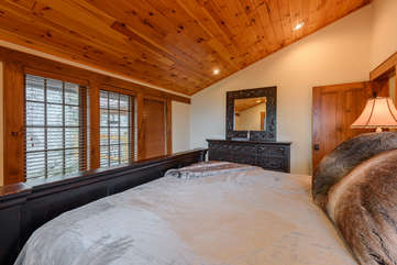 Third King Bedroom on Upstairs Level With Long Range Views