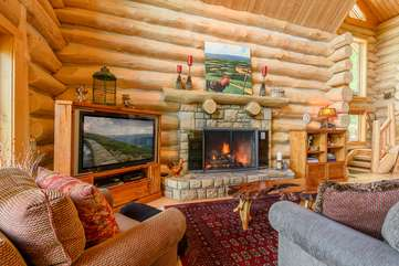 Living Area at Spice Mountain Lodge