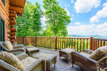 Enjoy the view from Spice Mountain Lodge deck