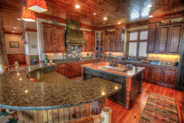 Overlook Estate Kitchen with Lots of Counter Space