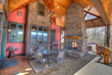 Overlook Estate Timber Frame Covered Outdoor Living Area