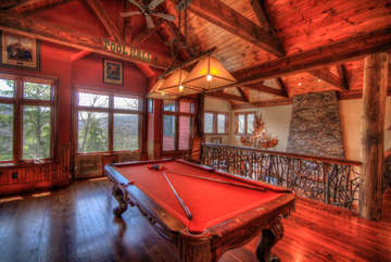 Overlook Estate Billiard Table in the Large Open Loft