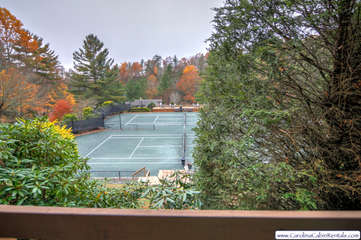 Yonahlossee Getaway View of the Tennis Courts