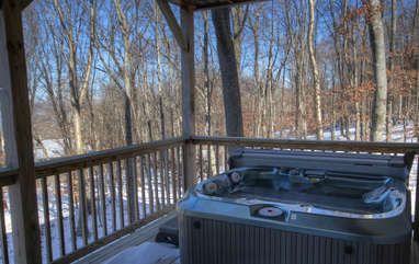 Wrenches and Numbers Hot Tub on Porch just off Game Room