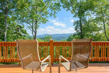 Enjoy the view at Valle Crucis Overlook from the Back Porch