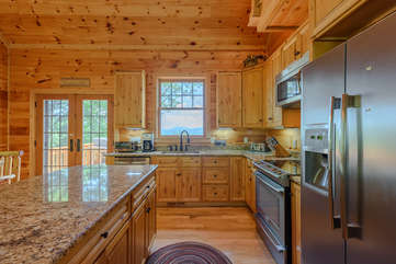 Valle Crucis Overlook Kitchen with wonderful view