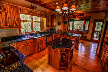 Tyneloch large kitchen area with plenty of counter top space