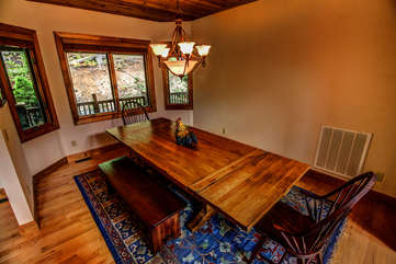 Tyneloch dining table with plenty of seating for family and friends