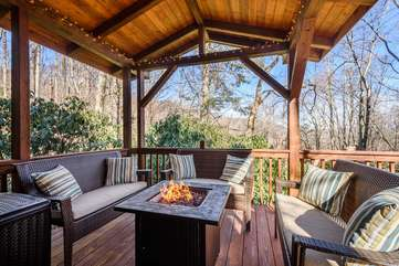 Comfortable Seating with propane Fire Pit