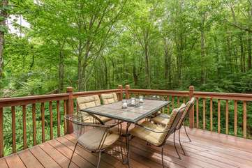 Outdoor Dining above the Creek