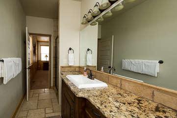 Main level master bathroom