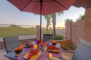 Fairway views with water features and brilliant sunsets will wow you both day and night