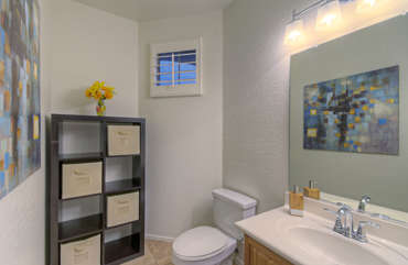 First floor powder room is attractive and appreciable convenience