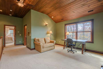 Upper Level with Office Space, Bedroom, Bath