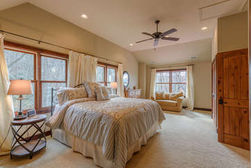 Spacious Master Bedroom on Upper Level
