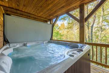 Newer Hot Tub on Covered Deck