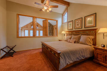 Upstairs King Master Suite with Open and Close Shutters